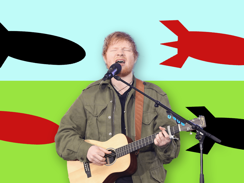 Ed Sheeran's world tour derailed by unexploded British bombs and 100 German trees